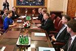 Встреча  премьер-министра Дании Ларса Лекке Расмуссена с президентом Эстонии Керсти