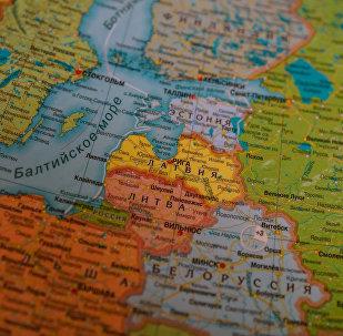 Прибалтика на карте Европы