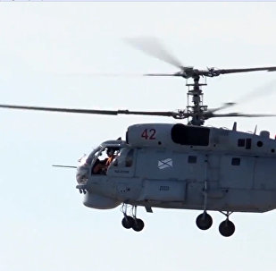 Минобороны РФ обнародовало видео с вертолетами Ка-27ПЛ Северного флота