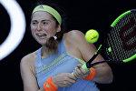 Теннисистка Елена Остапенко во втором туре на матче Открытого чемпионата Австралии по теннису в Мельбурне