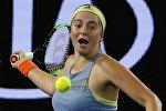 Теннисистка Елена Остапенко в матче третьего круга Australian Open против эстонки Анетт Контавейт