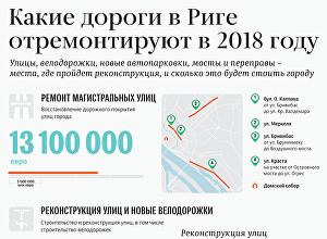 Какие дороги в Риге отремонтируют в 2018 году