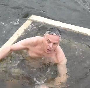 Крещенское купание посла США в РФ