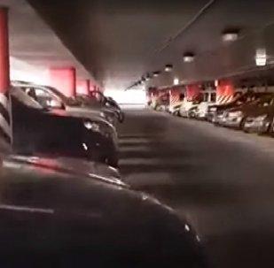 Случай на платной парковке возле аэропорта в Вильнюсе