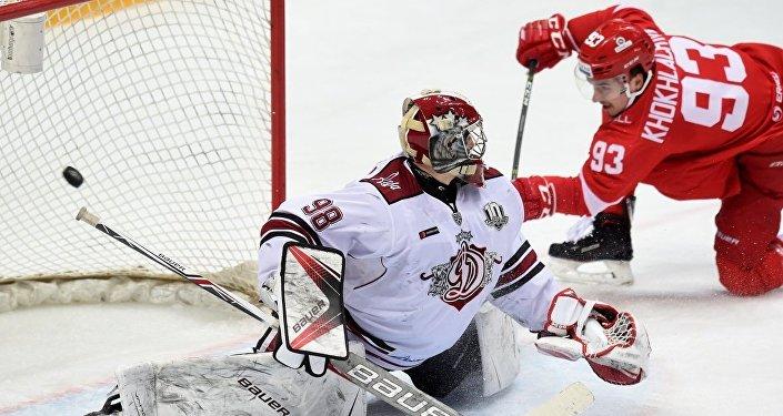 Рижское «Динамо» прервало серию поражений вКХЛ, победив «Йокерит»