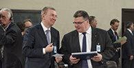 Министр иностранных дел Латвии Эдгарс Ринкевичс и министр иностранных дел Литвы Линас Линкявичюс