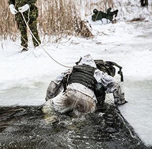 Учения снайперов эстонской армии