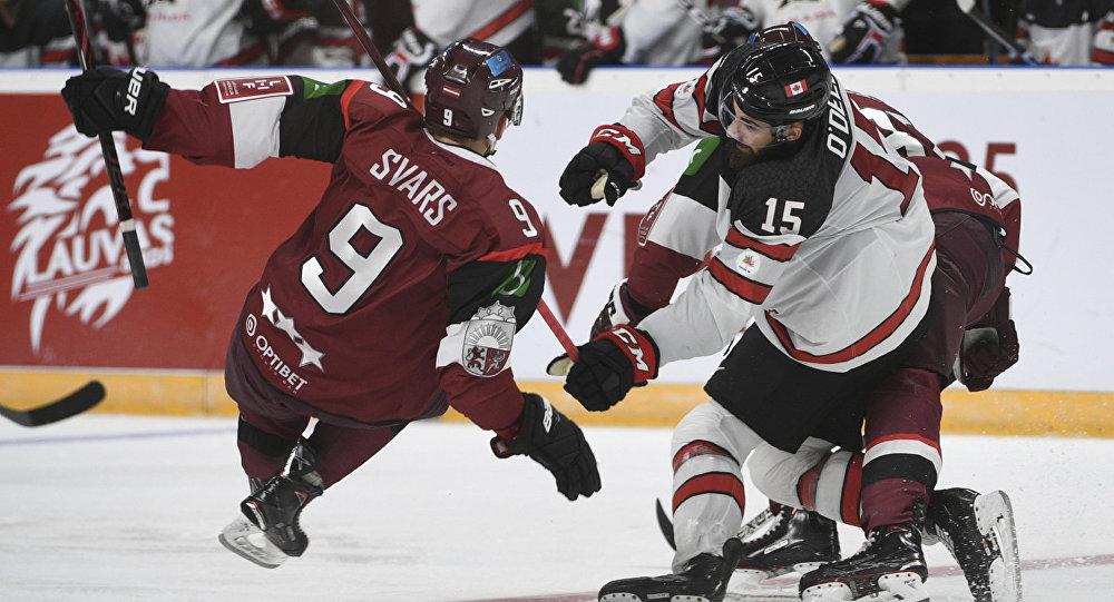 Хоккейный матч Латвия - Канада, 4 февраля 2018