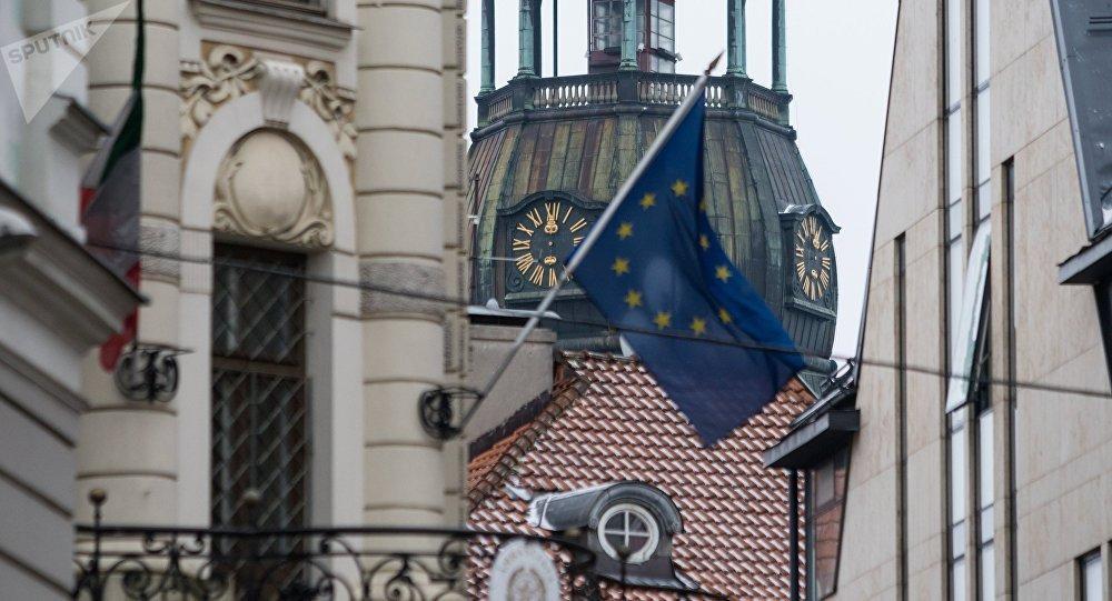 Флаг ЕС в Старой Риге