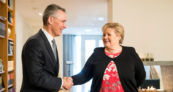 Генеральный секретарь НАТО Йенс Столтенберг встретился с премьер-министром Норвегии Эрной Солберг