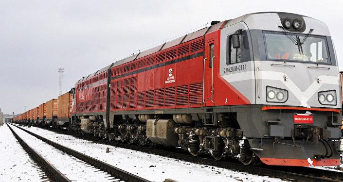 Первый грузовой экспресс-поезд Рига-Минск