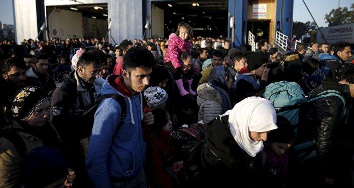 Migranti. Foto no arhīva