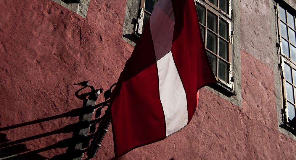 Флаг Латвии. Архивное фото