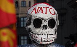 Protesta akcijas pret NATO Minhenē. Foto no arhīva