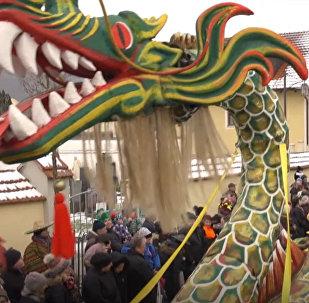 Vācijā noritēja ķīniešu karnevāls