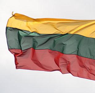 Флаг Литвы, архивное фото