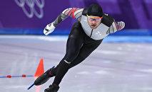 Конькобежец Харальдс Силовс на XXIII зимних Олимпийских играх в Пхенчхане