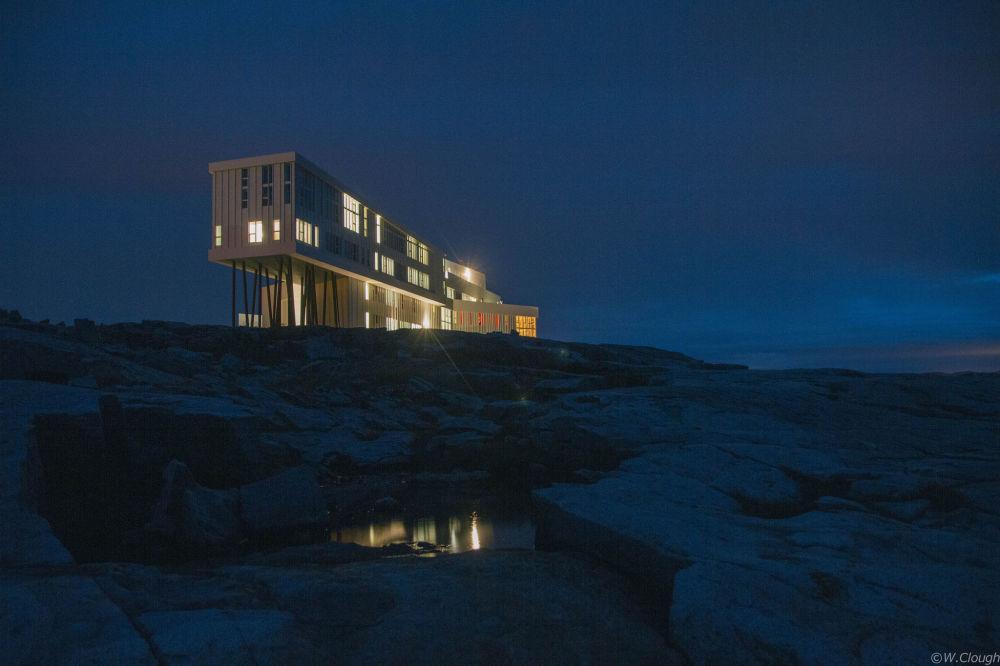 Ночной вид на остров Фого, Канада
