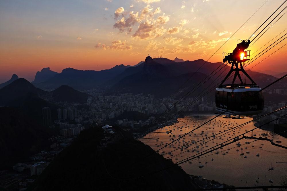 Канатная дорога в Рио-де-Жанейро, Бразилия