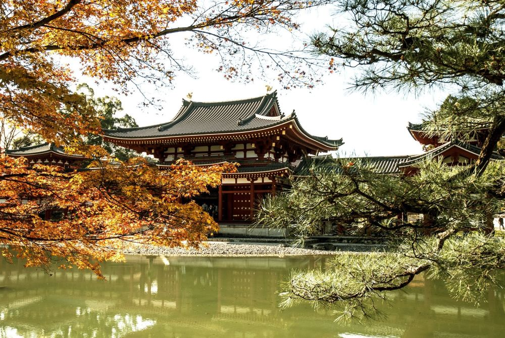 Буддийский храм в японском городе Киото