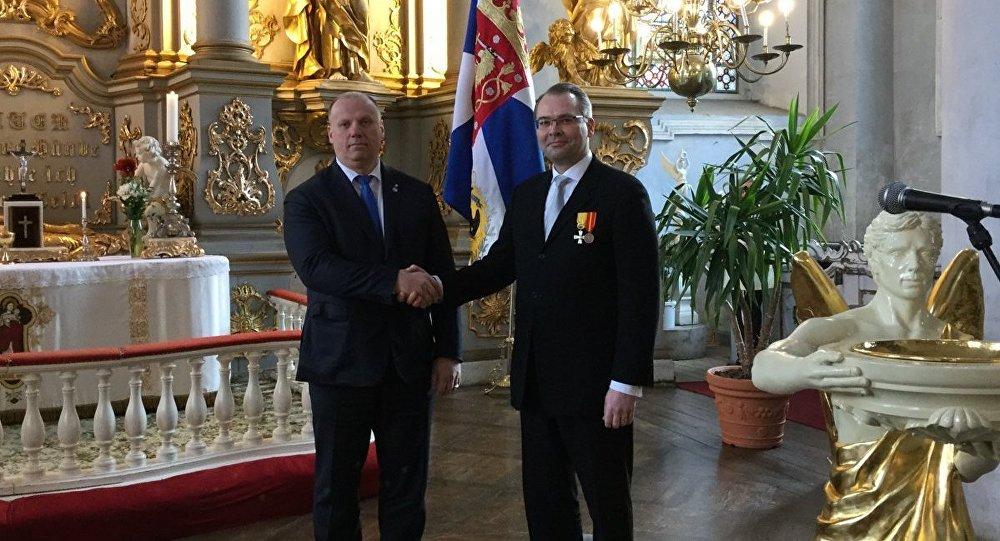 Министр обороны Латвии Раймондс Бергманис и Министр обороны Финляндии Юсси Нийнисте