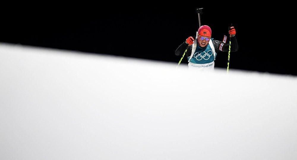 Олимпиада 2018. Биатлон. Женщины. Гонка преследования, архивное фото