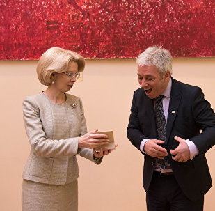Спикер Палаты общин Джон Беркоу и спикер Сейма Инара Мурниеце, 14 февраля 2018 года