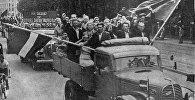 Выборы в Народный Сейм 14 июля 1940 года – два флага рядом