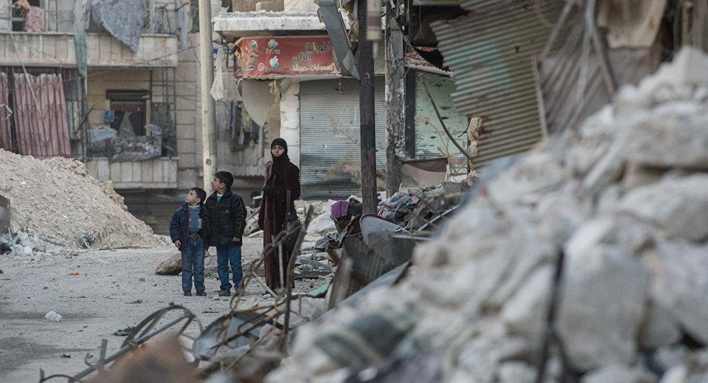 Situācija Alepo pilsētā. Foto no arhīva.