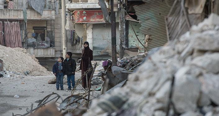 Situācija Alepo pilsētā Sīrijā