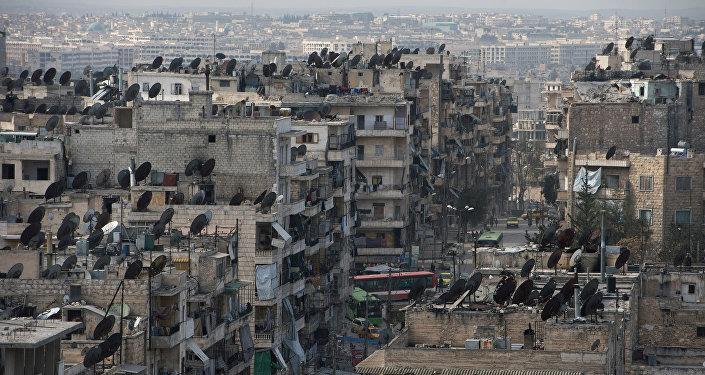 Situācija Sīrijas pilsētā Alepo.