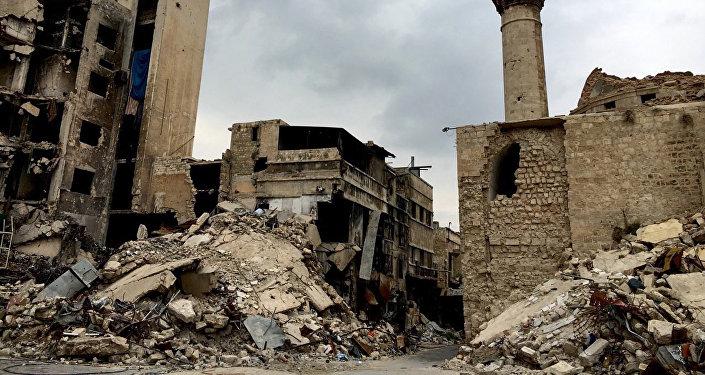 Alepo pilsēta Sīrijā. Foto no arhīva