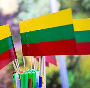 Литовские флажки, архивное фото