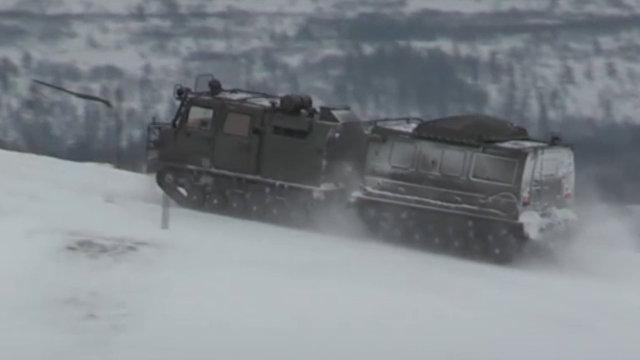 Российские мотострелки испытали в Заполярье новый вездеход