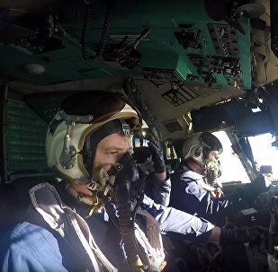 Отработка наведения на цели экипажами самолетов А-50У ВКС РФ