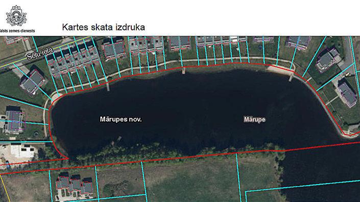 Озеро, участком которого владеет Артем Грудинин, на ортофотографической карте