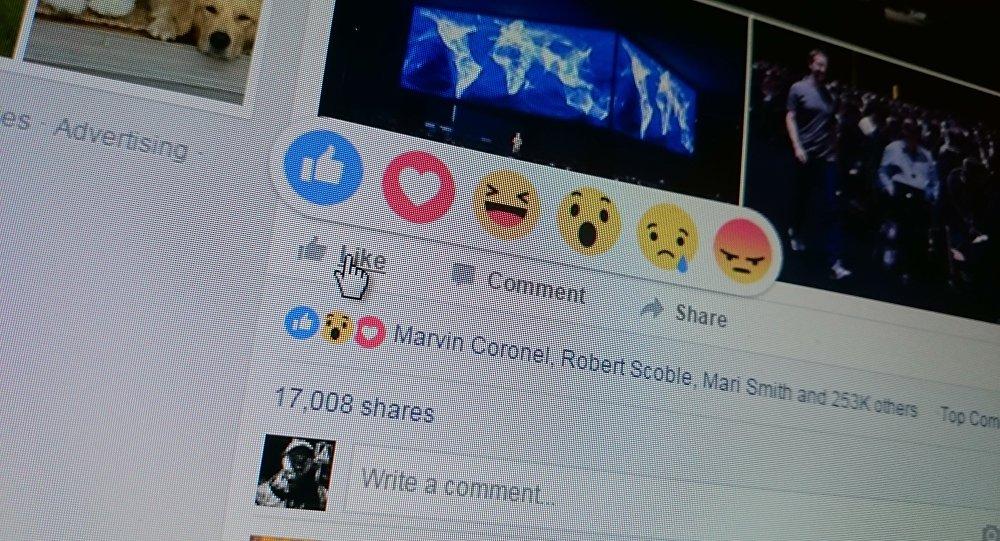 Facebook ввел пять альтернатив лайку.
