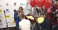 Российским лыжницам, призерам ОИ-2018, сделали предложения руки и сердца прямо в аэропорту