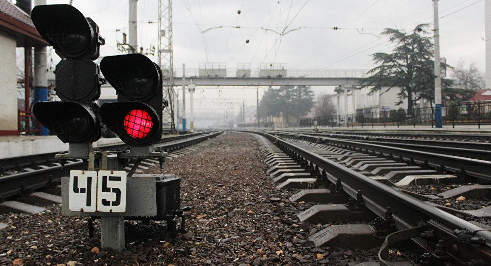 Dzelzceļa luksofors. Foto no arhīva