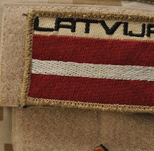 Нашивка на форме военного Латвии
