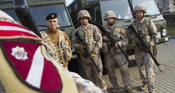Latvijas karavīri. Foto no arhīva.