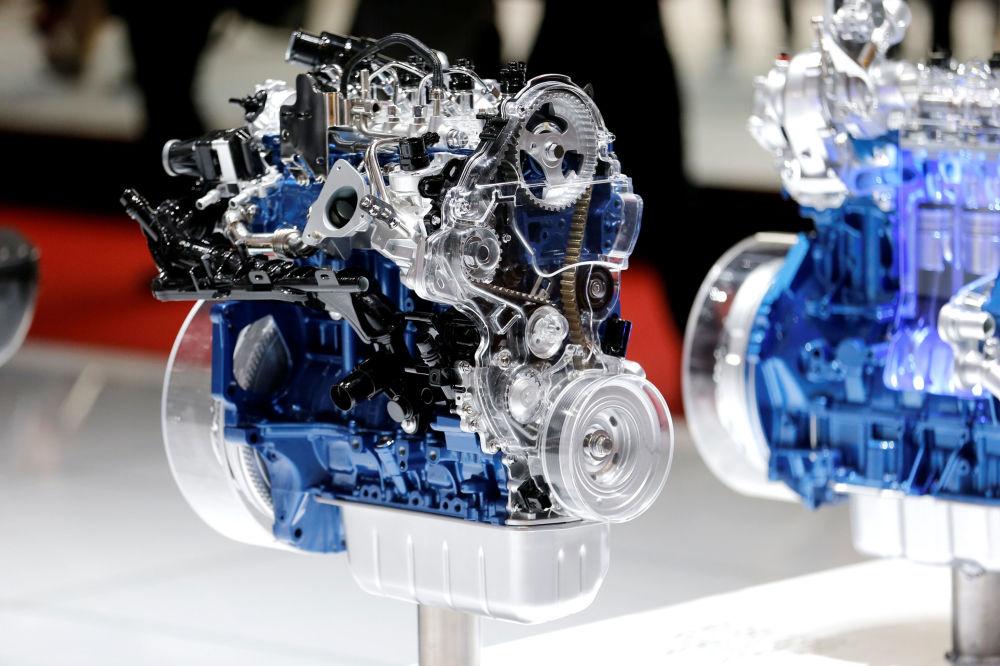 Двигатель Ford на автосалоне Geneva International Motor Show 2018 в Женеве, Швейцария