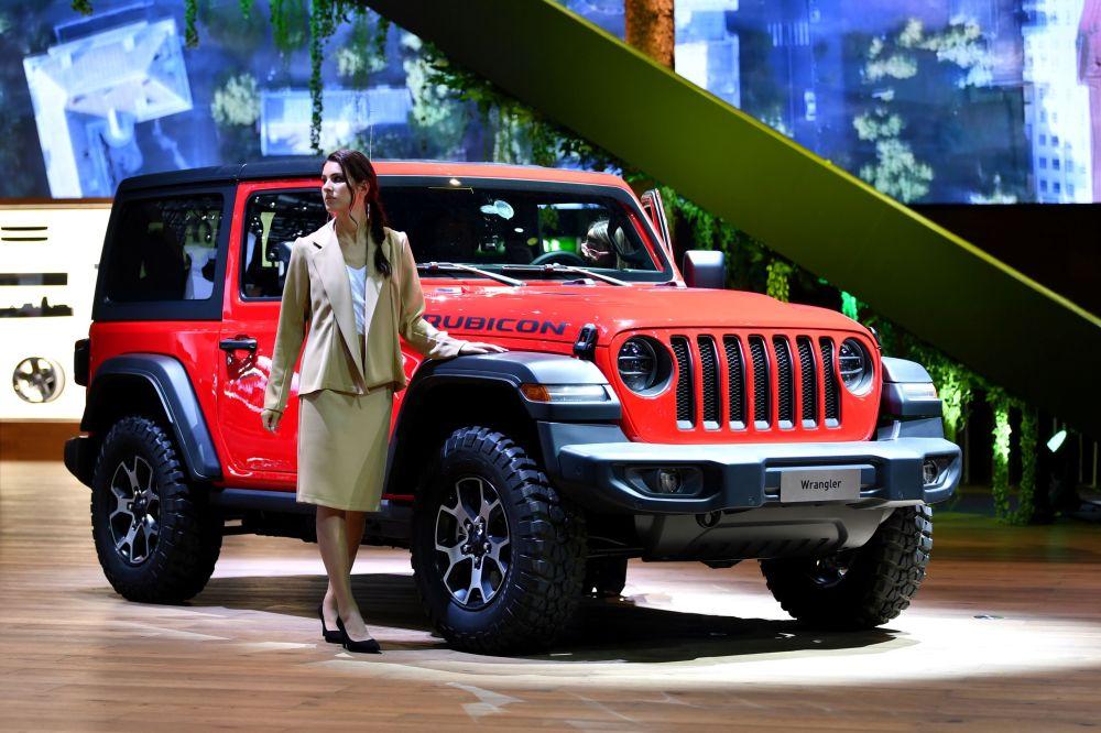 Стенд компании Jeep на автосалоне Geneva International Motor Show 2018 в Женеве, Швейцария