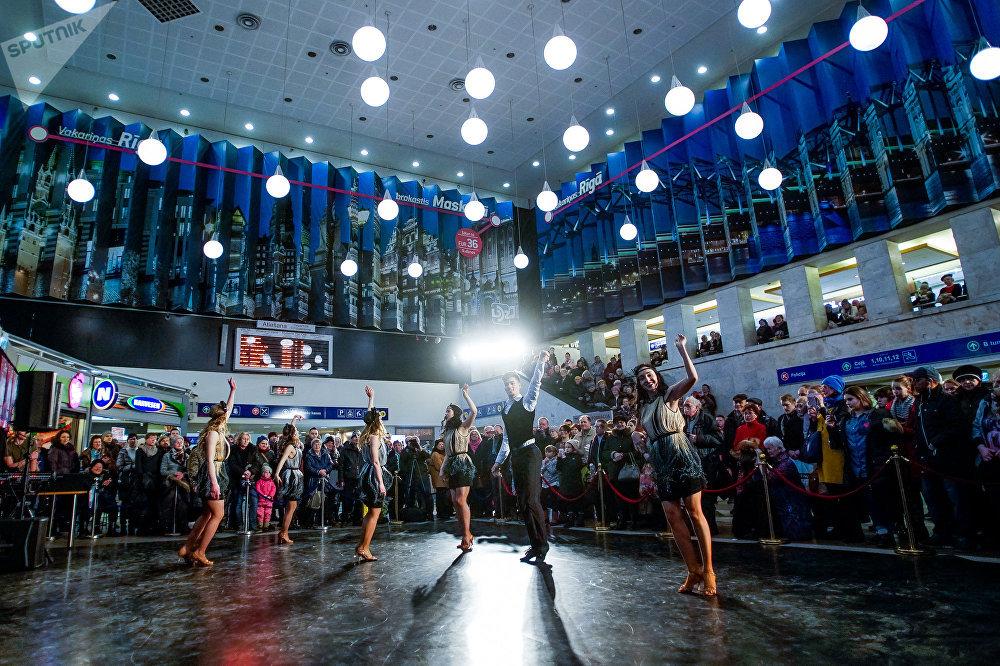 23-й Международный балтийский фестиваль балета. Открытие фестиваля в здании Рижского железнодорожного вокзала