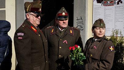 Gatavošanās SS leģionāru gājienam Rīgā
