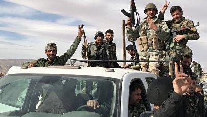 Сирийские военные в Восточной Гуте, 15 марта 2018