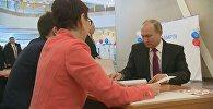 Vladimirs Putins nobalsoja vēlēšanās