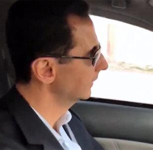 Sīrijas prezidents Bašars Asads apmeklējis Austrumu Gutas rajonus