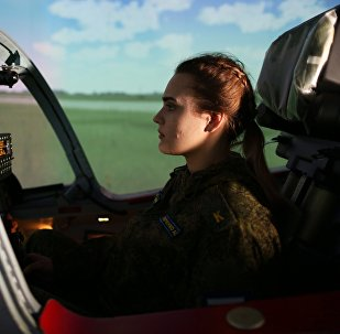 Подготовка девушек-курсантов в Краснодарском высшем военном авиационном училище летчиков