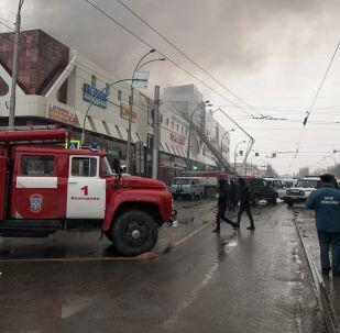 Пожар в торговом центре Зимняя вишня в Кемерове